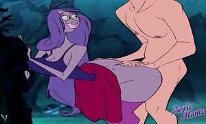 Mad madam mim - large arse wizards duel - purplemantis