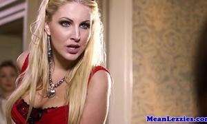 Busty lezdom ava koxxx teaches blond manners