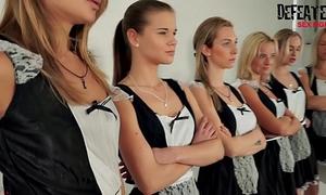 6 cuties fuckfest sexfight for the alpha female maid