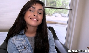 Cute shy latin chick craves to be in porn