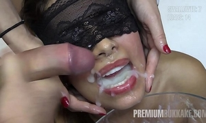 Premium bukkake - victoria swallows 81 biggest mouthful cum loads
