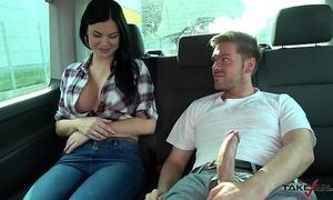 Ryan ryder convince juvenile innocet fascinating jasmine jae to fuck in driving van