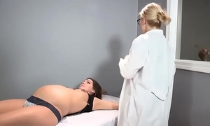 Sadie holmes preggo - doctor helps her patient to reach big O