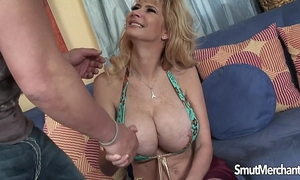 Big boobed golden-haired milf drilled priceless
