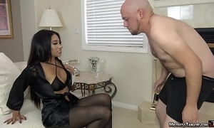 Mistress tangent femdom ballbusting and foot worship