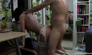 Slutty slutwife receives screwed all over the room