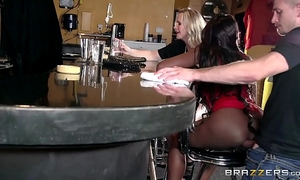 Milfs having sex with the waiter