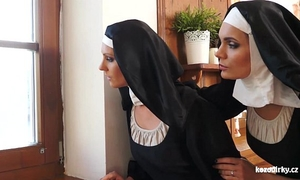 Catholic nuns and the monster! insane monster and twats!