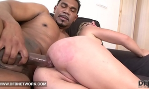 Mature golden-haired licking a sex-toy masturbating butt and slit hardcore porno fucking