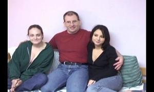 Nerd copulates in threesome