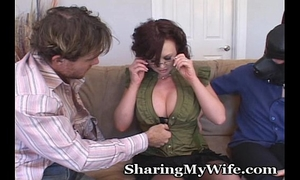 Naughty housewife with obedient hubby