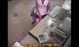 Hidden office hotwife