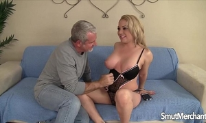 Horny golden-haired hotwife jasmine gin acquires drilled hard