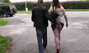 Busty plump picked up by stranger