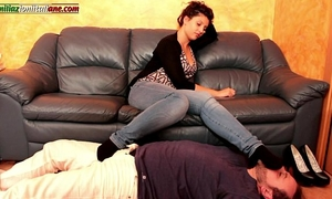 Falling in love with elisa merely smell part - jeans foot worship