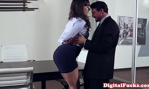 Office milf pounded on top of desk