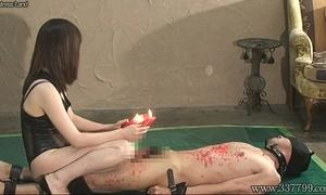Japanese femdom hawt waxes sadomasochism weenie