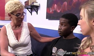 Mature unsightly and youthful fuck dark cock