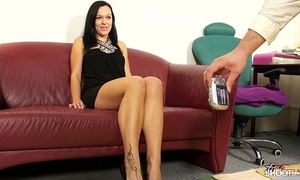 Fakeshooting - breathtaking chick takes a large rod in advance of spunk flow