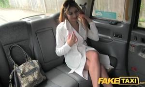 Faketaxi hawt slutty wife in fishnet underware