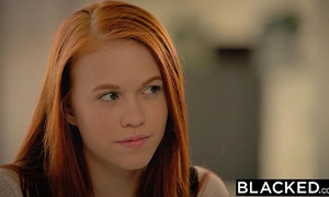 Blacked 1st large dark dong for legal age teenager dolly little
