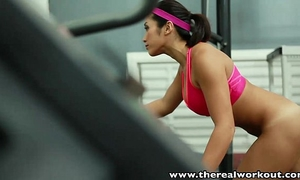 Therealworkout breasty oriental gym honey taut wet crack screwed