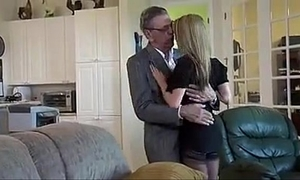 Old guy with juvenile slutty wife