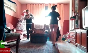 Christmas nanny brings sexy gifts at home