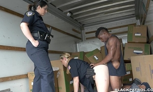 Suspect apprehended in moving truck