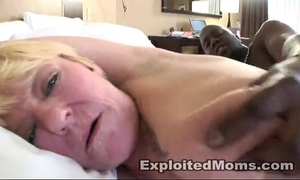 Blonde non-professional mama receives drilled hard in dark dong movie scene