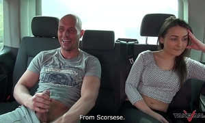 Hungarian idle beauty didnt desire to leave the van after fuck