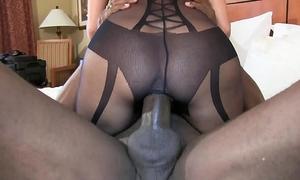 Bbc stretch out cum-hole cowgirl style super hot brunette hair dirty slut wife in dark underware