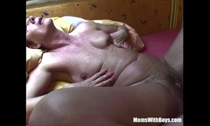 Horny aged whore anal drilled with large jock