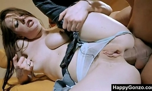 Hot hungarian BBC slut drilled in wet crack and gazoo by 3 dudes