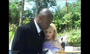 Blonde legal age teenager anal and double penetration with 2 large dark knobs