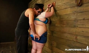 Bbw eliza allure can't live without bumpers slapped and screwed