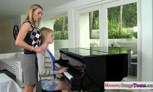 Musical mama swapping cum with stepteen