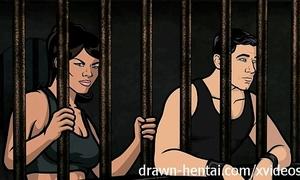 Archer anime - jail sex with lana