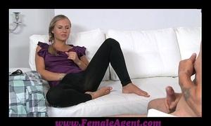 Femaleagent mutual masturbation in casting interview