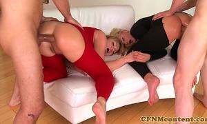 Cfnm hottie ivana sugar in anal foursome