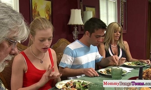 Mamma watching hawt stepdaughters facial