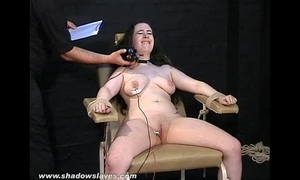 Electro tortured bbw in harsh stool slavery and severe suffering of chubby thrall
