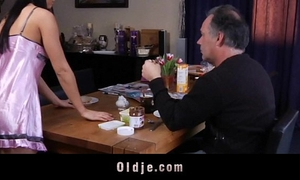 Young gals seducing and fucking aged dudes