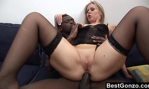 Black schlong in her constricted wazoo
