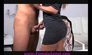 Femaleagent smokin' sexy recent female agent seduces man