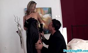 Glamour euro chick takes dick in all holes