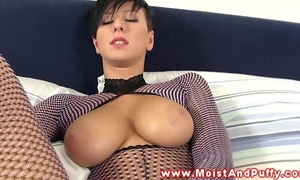 Beautiful puffy peach breasty sweetheart solo sex