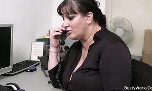 Fat secretary oral and office fuck