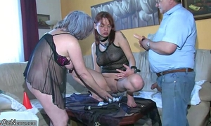 Oldnanny hawt juvenile Married slut playing with old stud and his old plump aged
