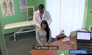 Fakehospital charming patient prescribed a worthwhile juicy fucking on desk as cure